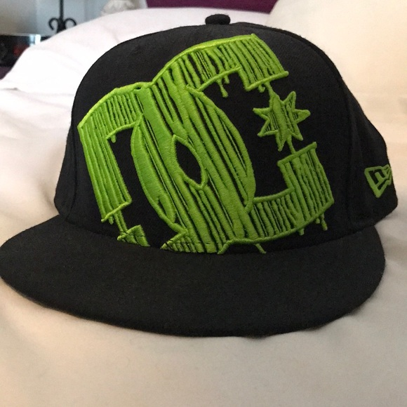 dc59317a DC Accessories | Flatbill Hat Lime Green And Black Size 7 14 | Poshmark